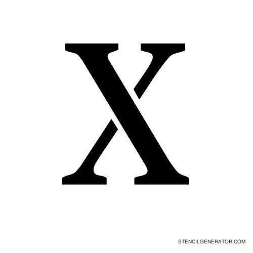 Stardos Alphabet Stencil X