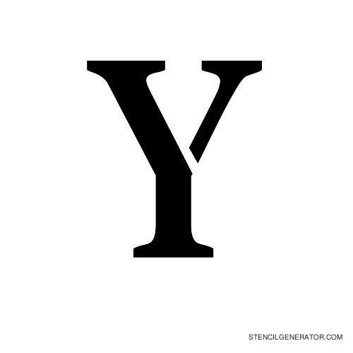 Stardos Alphabet Stencil Y
