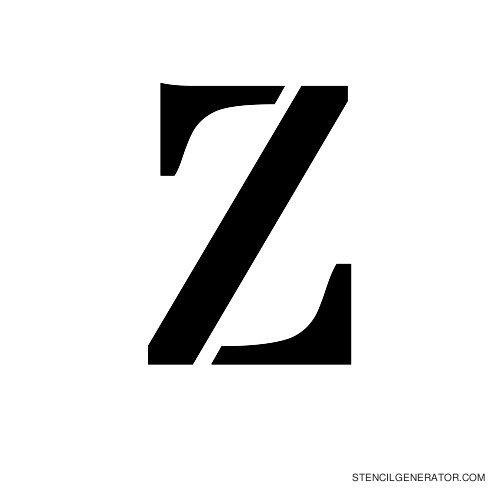 Stardos Alphabet Stencil Z
