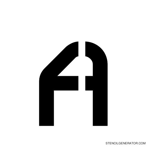 Sylar Alphabet Stencil A