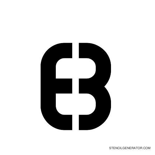 Sylar Alphabet Stencil B