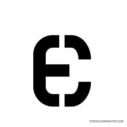 Sylar Alphabet Stencil E