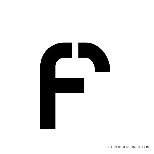 Sylar Alphabet Stencil F