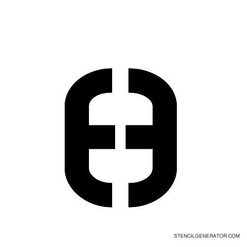 Sylar Alphabet Stencil H