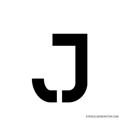 Sylar Alphabet Stencil J