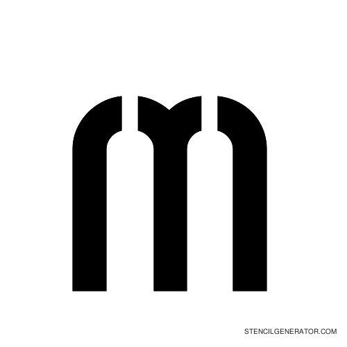 Sylar Alphabet Stencil M