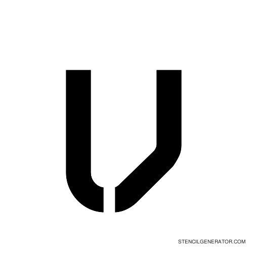 Sylar Alphabet Stencil V