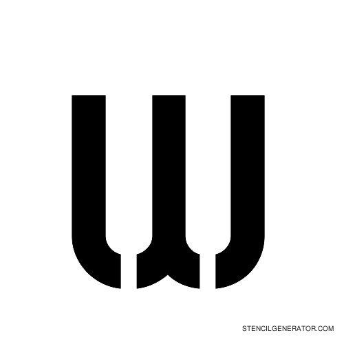 Sylar Alphabet Stencil W
