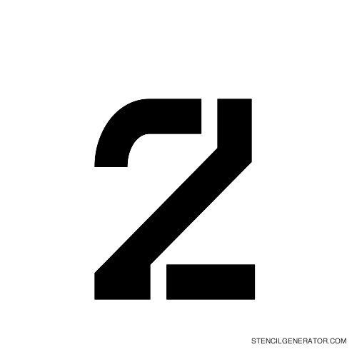 Sylar Alphabet Stencil Z